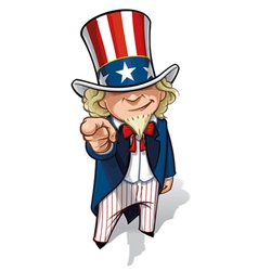 Uncle sam i want you vector