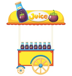A pushcart selling fruit juice vector