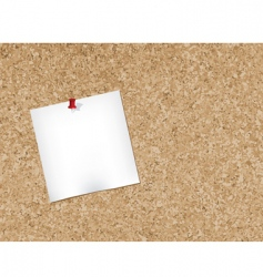 Cork bulletin board vector