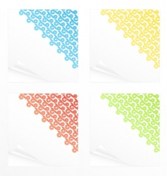 Memo stickers vector