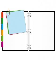 Open notepad vector