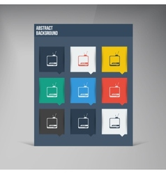 Flat ui design trend icons vector