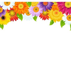 Color gerbers flower frame with bokeh vector