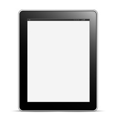 Digital tablet pc with blank screen isolated on vector