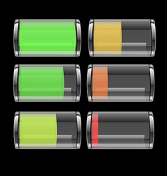 131 transparent battery icon vector