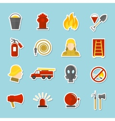 Firefighting icons stickers vector