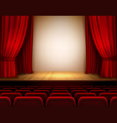 Theater stage background vector