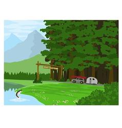 Hidden valley camp vector