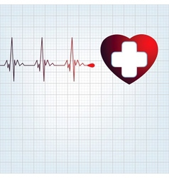 Heart medical cross eps 8 vector