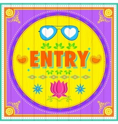 Entry poster vector