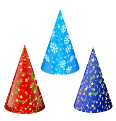 Set of hats for party vector