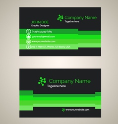 Corporate business card v 4 vector