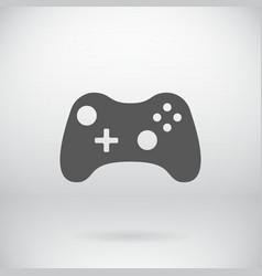 Flat gamepad joystick joypad icon symbol vector