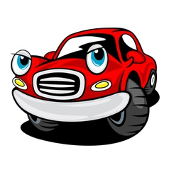 Red funny cartoon car vector