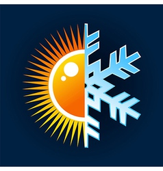 Hot and cold temperature symbol vector