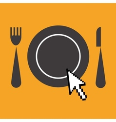 Icon of advertisement for restaurants web vector