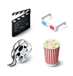 Cinema realistic set vector