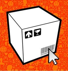 Logistic box icon vector