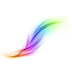 Abstract smoke on white rainbow vector