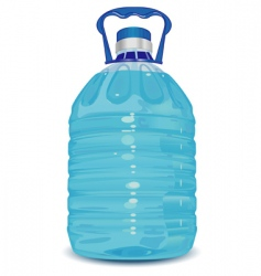 Bottle with handle vector