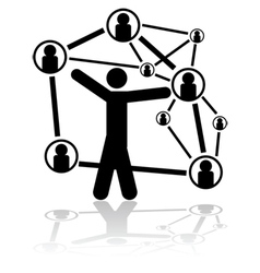 People connections vector