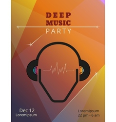 Deep music party poster vector