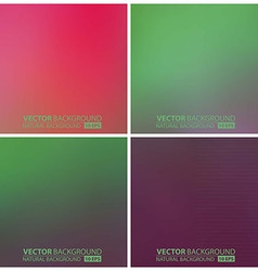 Set of green backgrounds vector
