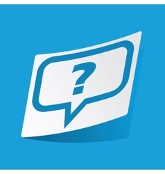 Question message sticker vector