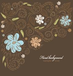 Floral ornate background vector