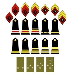The french army insignia vector