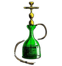 Hookah on white background vector