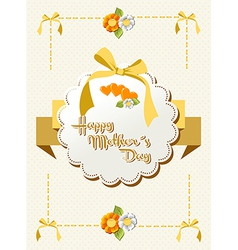 Happy mothers day ribbon background vector