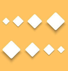 White material design paper buttons with shadow vector
