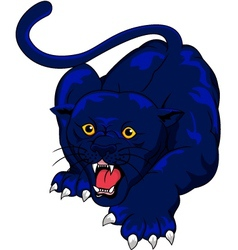Blue panther vector