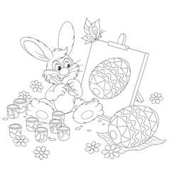 Easter bunny artist vector