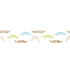 Fun silhouette mustaches horizontal border vector