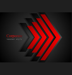 Red arrows geometry corporate background vector