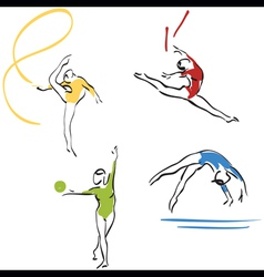 Gymnastics collection vector
