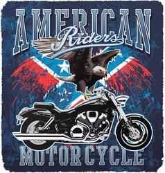 American motorcycle rider vector
