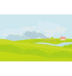 Spring rural landscape vector