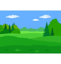 Landscape summer forest glade vector