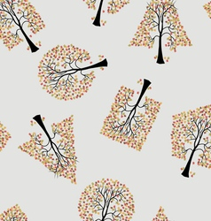Seamless wallpaper trees vector
