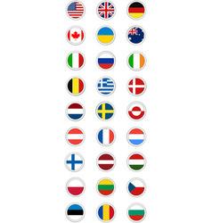 Postal flag stamp round vector