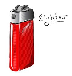Lighter cartoon sketch vector
