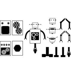 Robot parts vector