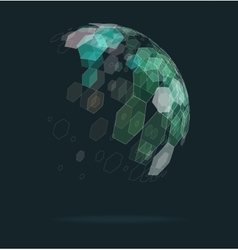 Abstract ball of geometric shapes vector
