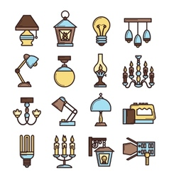 Light icon set vector