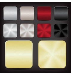 Metallic app icons vector