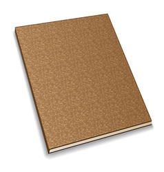 Notebook from recycled paper vector
