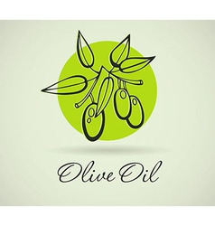 Hand-drawing olive vector